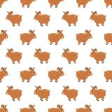 Christmas wooden reindeer seamless pattern background. illustration background. Vector illustration layered for easy Royalty Free Stock Photography