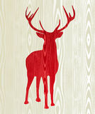 Christmas wooden reindeer silhouette. Christmas wood reindeer silhouette postcard background. Vector file layered for easy manipulation and custom coloring Royalty Free Stock Images