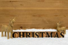 Christmas wooden reindeer still life Royalty Free Stock Photography