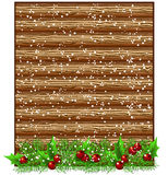 Christmas wooden signboard Royalty Free Stock Photo