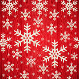 Christmas wooden snowflakes pattern