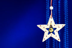 Christmas wooden star decoration Royalty Free Stock Images