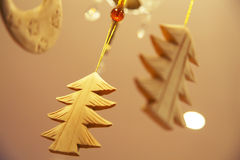 Christmas wooden tree Stock Images