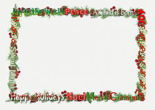 Christmas word art frame Royalty Free Stock Image