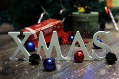 Christmas word ball Stock Photography