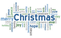 Christmas Word Cloud. Concept illustration, isolated on white background. Useful also as greetings card. Eps file available Stock Photo