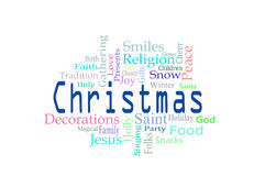 Christmas word cloud. Against a white background vector illustration