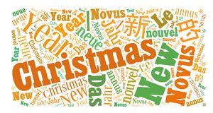 Christmas Word Cloud. Concept illustration, isolated on white background. Useful also as greetings card Stock Photography
