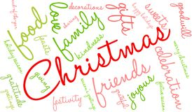 Christmas Word Cloud. On a white background Stock Images