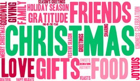 Christmas Word Cloud. On a white background Stock Photos