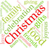 Christmas Word Cloud. On a white background Stock Photo