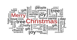 Christmas Word Cloud vector illustration