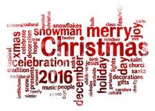 Christmas word cloud Stock Photos