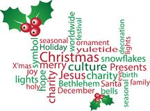 Christmas word cloud Royalty Free Stock Images