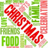 Christmas Word Cloud. On a white background Royalty Free Stock Photos