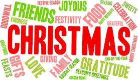 Christmas Word Cloud. On a white background Royalty Free Stock Image