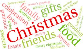 Christmas Word Cloud. On a white background Stock Photography