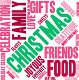 Christmas Word Cloud. On a white background Royalty Free Stock Photo