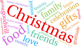 Christmas Word Cloud. On a white background Stock Image