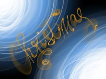 Christmas word lettering written with orange fire flame or smoke on blurred bokeh background.  Stock Photo