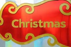 Christmas word with lighting Royalty Free Stock Photos