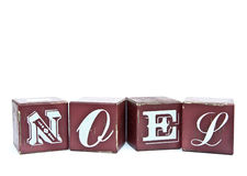 Christmas word Noel on wooden blocks Stock Image
