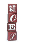 Christmas word Noel on wooden blocks Royalty Free Stock Photo