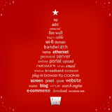 Christmas Word Tree Royalty Free Stock Photos