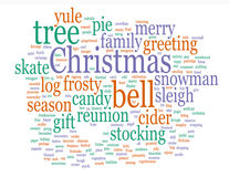 Christmas Words Stock Images