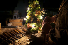 Christmas at work Royalty Free Stock Photography