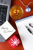 Christmas work place Stock Image