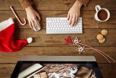 Christmas work Stock Photography