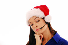 Christmas worker bored Stock Image