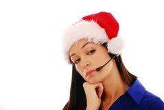Christmas worker bored Stock Image