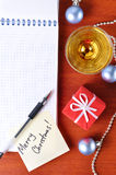 Christmas workplace Royalty Free Stock Photo