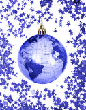 Christmas world globe Royalty Free Stock Photos