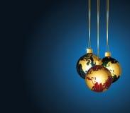 Christmas world ornaments. Royalty Free Stock Photography