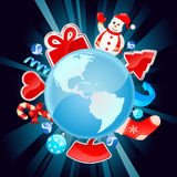 Christmas world vector Royalty Free Stock Photo