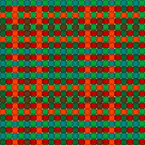 Christmas woven pattern seamless. Illustration of woven crisscross pattern with colourful warp and weft strands. Seasonal texture. Repeatable in all directions stock illustration