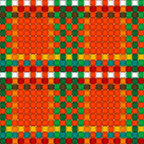 Christmas woven pattern seamless. Illustration of woven crisscross pattern with colourful warp and weft strands. Seasonal texture. Repeatable in all directions vector illustration