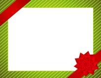 Christmas Wrap and Bow Border Stock Photo