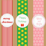 Christmas wrapping badges Stock Image