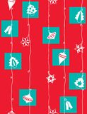 Christmas wrapping paper. Seamless pattern Stock Photography