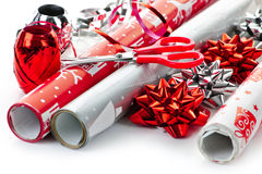 Free Christmas Wrapping Paper Rolls Royalty Free Stock Image - 17787156