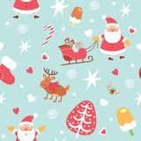 Christmas wrapping paper - seamless texture. Vector illustration royalty free stock image