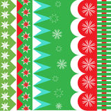 Christmas wrapping pattern Stock Image