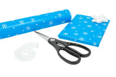 Christmas wrapping presents Stock Images
