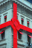 Christmas Wrappings. The Tiffany Building in New York City is decorated Christmas Stock Photography