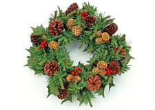 Christmas Wreath-1 Royalty Free Stock Image