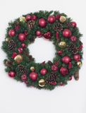 Christmas Wreath. In preparation of the season Royalty Free Stock Photo